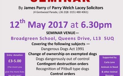 Seminar on Dog Law at Parry Welch Lacey LLP
