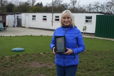 Lesley with award 2